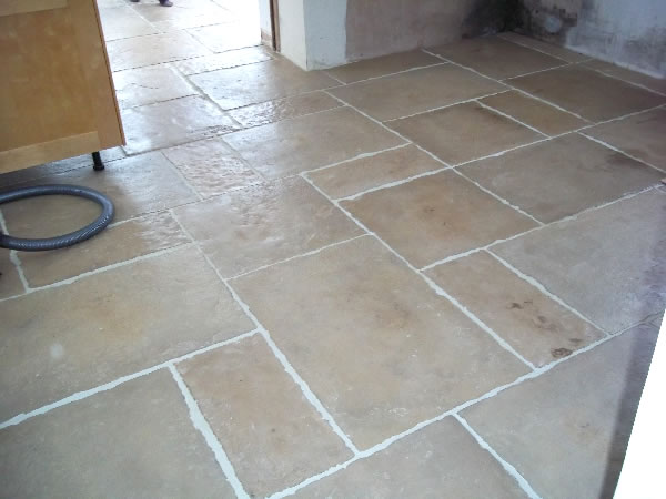 natural stone floor tile installation